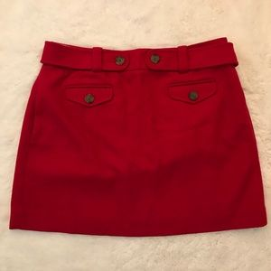 J. Crew wool belted mini skirt